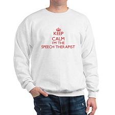 Keep calm I'm the Speech Therapist Sweatshirt