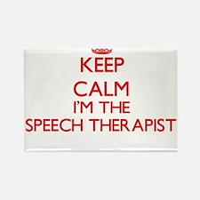 Keep calm I'm the Speech Therapist Magnets