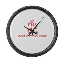 Keep calm I'm the Sports Psycholo Large Wall Clock
