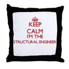Keep calm I'm the Structural Engineer Throw Pillow