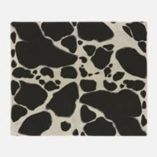 Faux Holstein Cow Cowhide Pattern Throw Blanket
