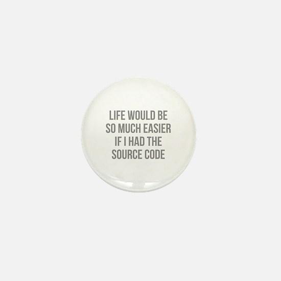 Life Source Code Mini Button