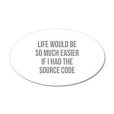 Life Source Code 22x14 Oval Wall Peel