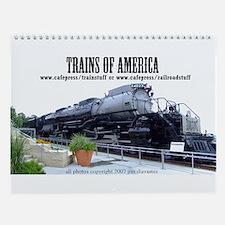 Trains of the U.S.A. Wall Calendar
