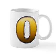 Big Gold Number 0 Mugs