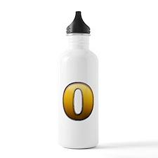 Big Gold Number 0 Water Bottle