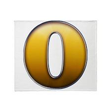 Big Gold Number 0 Throw Blanket
