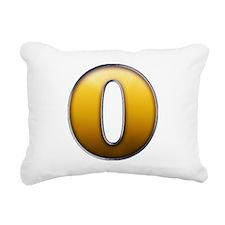 Big Gold Number 0 Rectangular Canvas Pillow