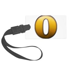 Big Gold Number 0 Luggage Tag