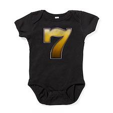 Big Gold Number 7 Baby Bodysuit