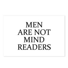 Men Are Not Mind Readers Postcards (Package of 8)
