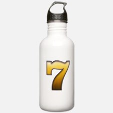 Big Gold Number 7 Water Bottle
