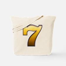 Big Gold Number 7 Tote Bag