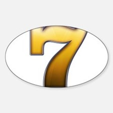 Big Gold Number 7 Decal