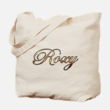 Gold Roxy Tote Bag