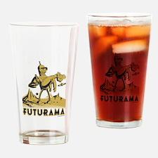 Futurama Bender and Fry Drinking Glass