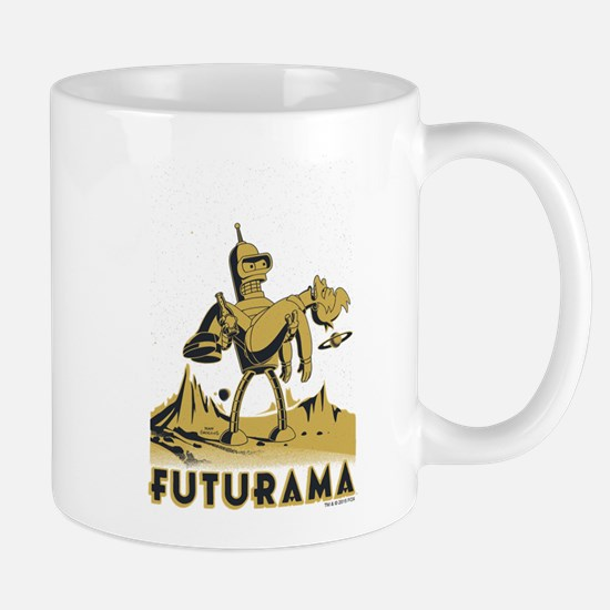 Futurama Bender and Fry Mug