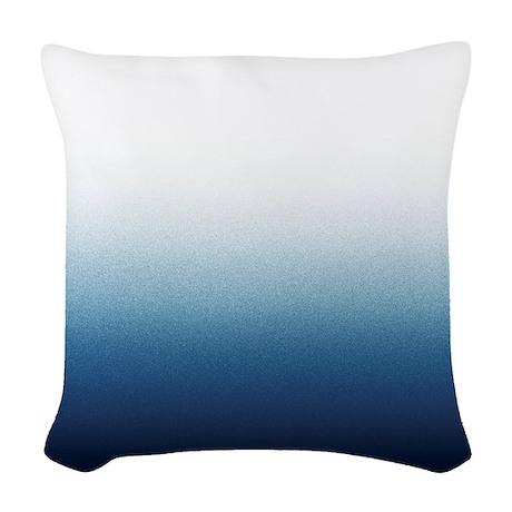 Indigo Blue Throw Pillow : Indigo blue Ombre Woven Throw Pillow by V_Ink