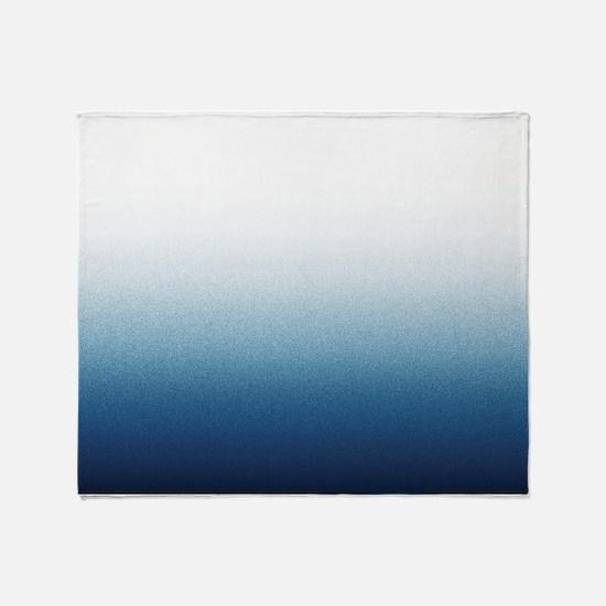 Indigo blue Ombre Throw Blanket