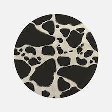 "Faux Holstein Cowhide Pattern 3.5"" Button"