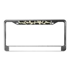 Faux Holstein Cowhide Pattern License Plate Frame