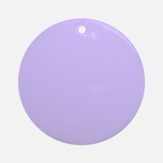 girly modern lilac purple Ornament (Round)