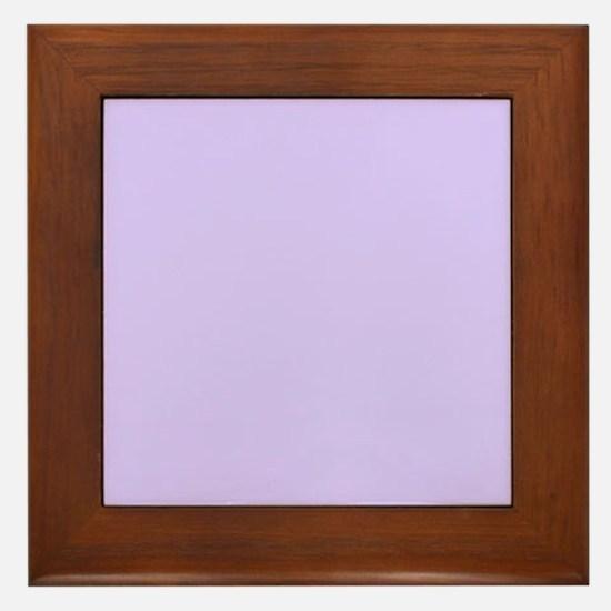 girly modern lilac purple Framed Tile