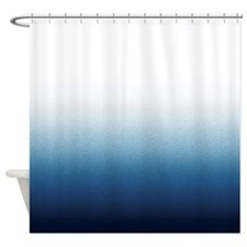 Beautiful Indigo Blue Ombre Shower Curtain