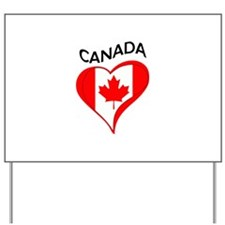 FLAG HEART CANADA Yard Sign