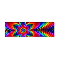 Rainbow Flower Fractal Car Magnet 10 x 3