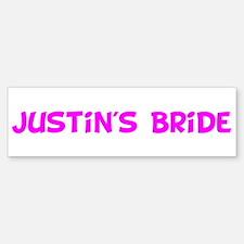 Justin's Bride Bumper Bumper Bumper Sticker