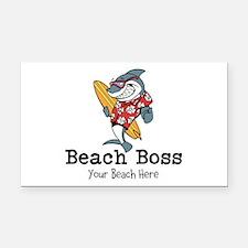 Beach Boss Rectangle Car Magnet