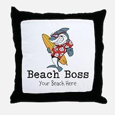 Beach Boss Throw Pillow