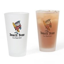 Beach Boss Drinking Glass