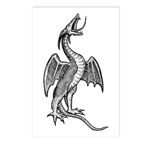 Fantasy Dragon Image Postcards (Package of 8)