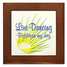Line Dancing Brightens Framed Tile