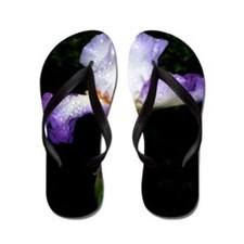 Purple iris, art, photo Flip Flops