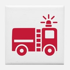 Fire truck Tile Coaster
