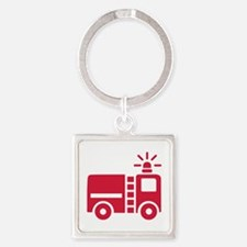 Fire truck Square Keychain
