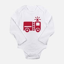 Fire truck Long Sleeve Infant Bodysuit