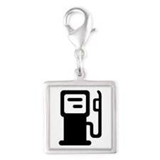 Gas station Silver Square Charm