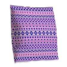 Aztec Essence (ii) Pbp Burlap Throw Pillow