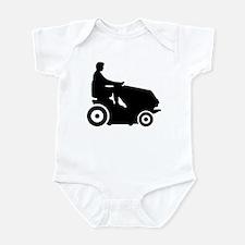 Lawn mower driver Infant Bodysuit