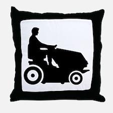 Lawn mower driver Throw Pillow