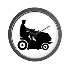 Lawn mower driver Wall Clock