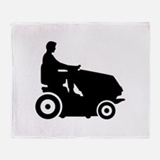 Lawn mower driver Throw Blanket