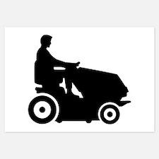 Lawn mower driver Invitations