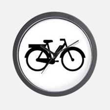 Moped Motorbike Wall Clock