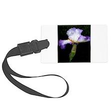 Purple iris, art, photo Luggage Tag