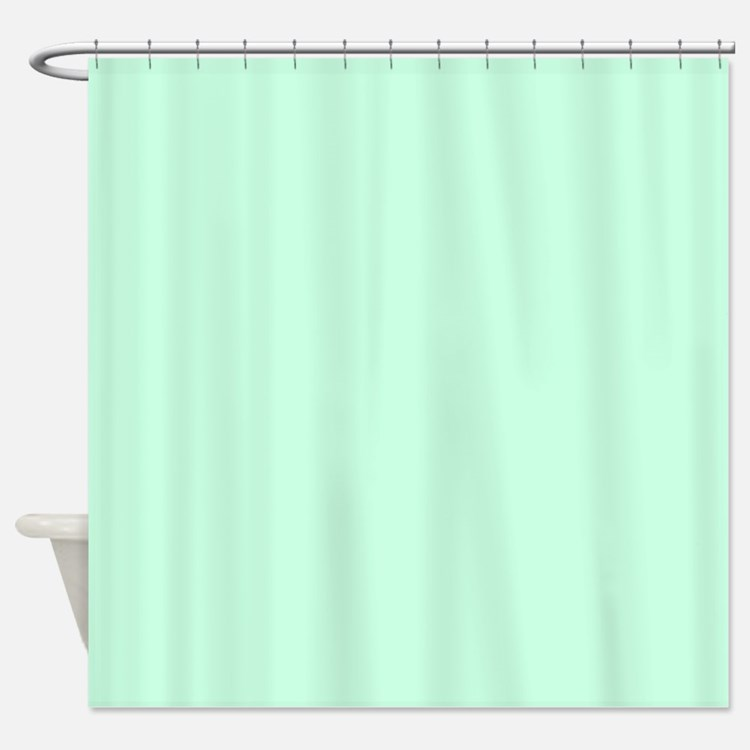 Pastel Mint Green Shower Curtains Pastel Mint Green Fabric